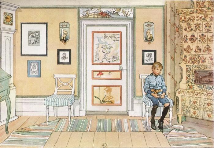 Naklejka Pixerstick Carl Larsson - W kącie - Reproductions