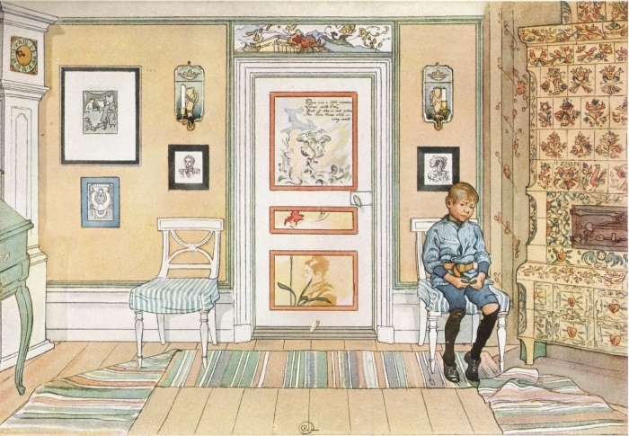 Sticker Pixerstick Carl Larsson - Dans le coin - Reproductions