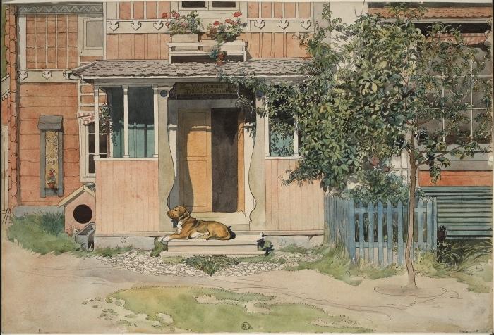 Adesivo Pixerstick Carl Larsson - La veranda - Reproductions