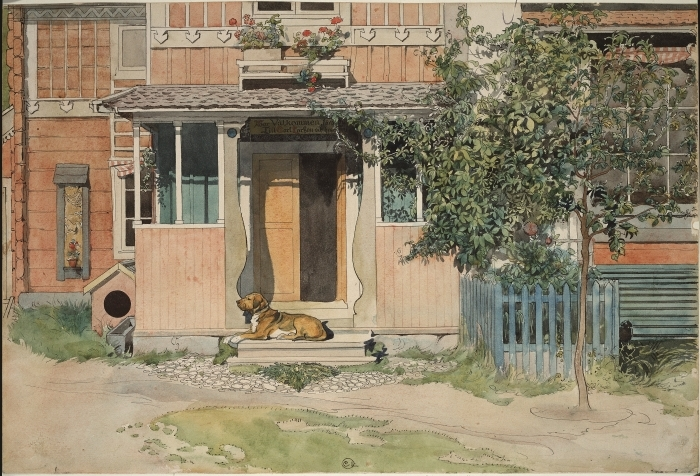 Vinilo Pixerstick Carl Larsson - La entrada - Reproductions
