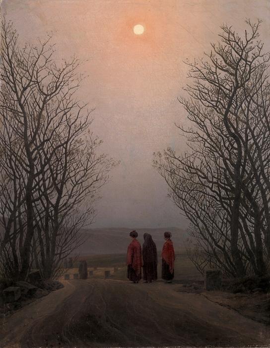 Fototapeta winylowa Caspar David Friedrich - Poranek Wielkanocny - Reproductions