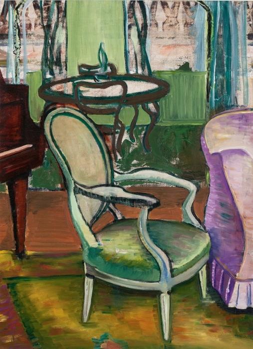Papier peint vinyle Efa Prudence Heward - Etude du salon de l'artiste - Reproductions