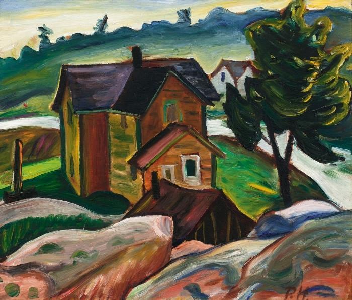 Papier peint vinyle Efa Prudence Heward - Whitefish Falls, baie Georgienne - Reproductions