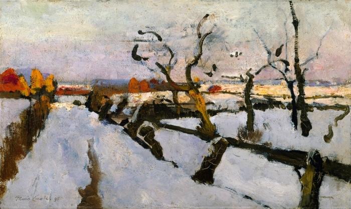 Papier peint vinyle Floris Verster - Etude de la neige - Reproductions