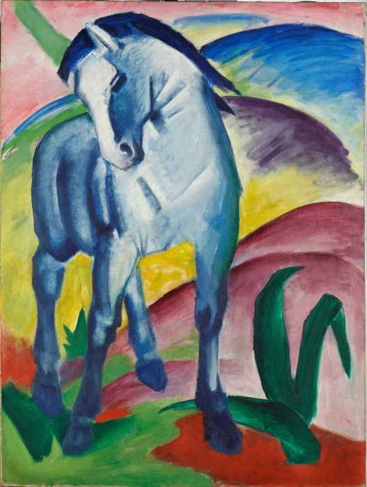 Naklejka Pixerstick Franz Marc - Niebieski koń - Reproductions