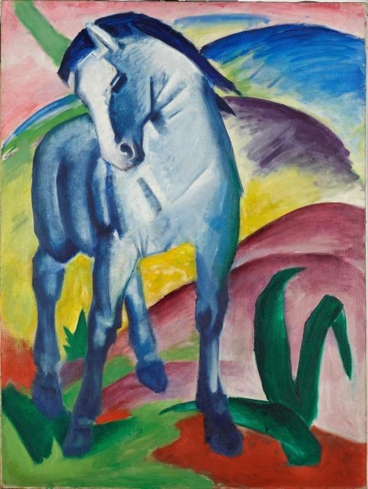 Papier peint vinyle Franz Marc - Cheval bleu - Reproductions