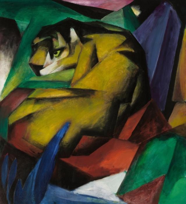 Papier peint vinyle Franz Marc - Le tigre - Reproductions