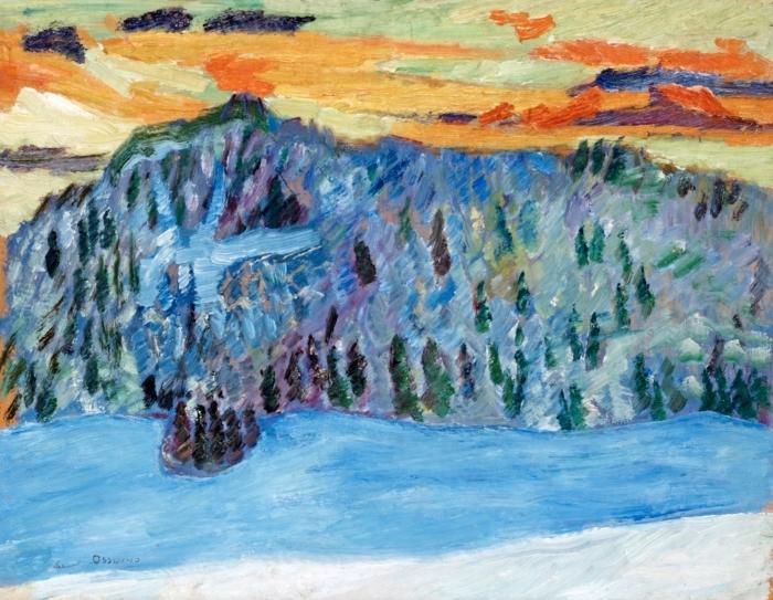Papier peint vinyle Helmer Osslund - Paysage d'hiver, Näsåker - Reproductions