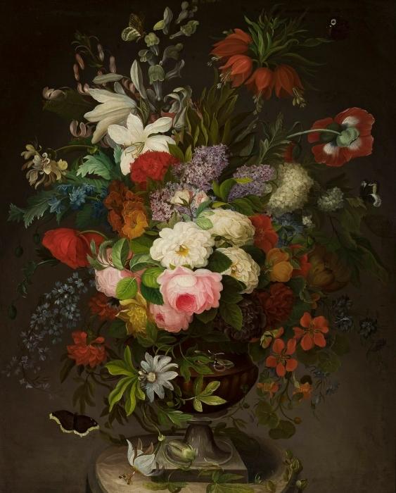 Papier peint vinyle Henryka Beyer - Fleurs - Reproductions