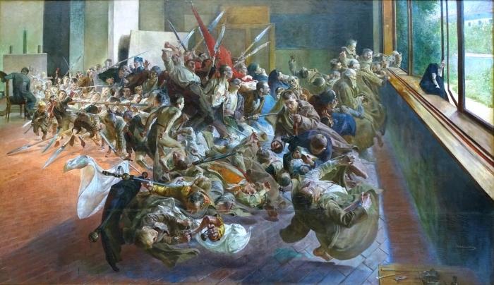 Carta da Parati in Vinile Jacek Malczewski - Malinconia - Reproductions
