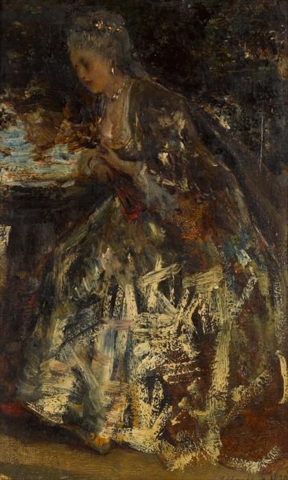 Papier peint vinyle Jacob Maris - La petite marquise - Reproductions