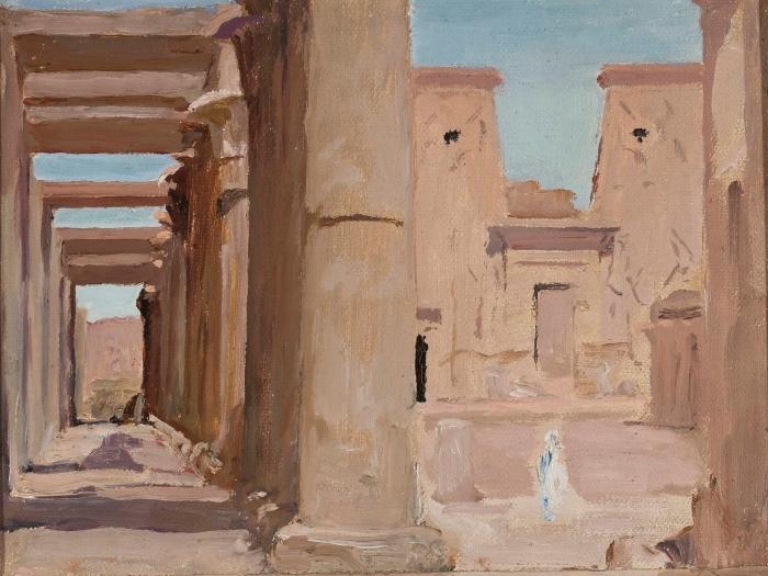 Papier peint vinyle Jan Ciągliński - Temple. Du voyage en Egypte. - Reproductions