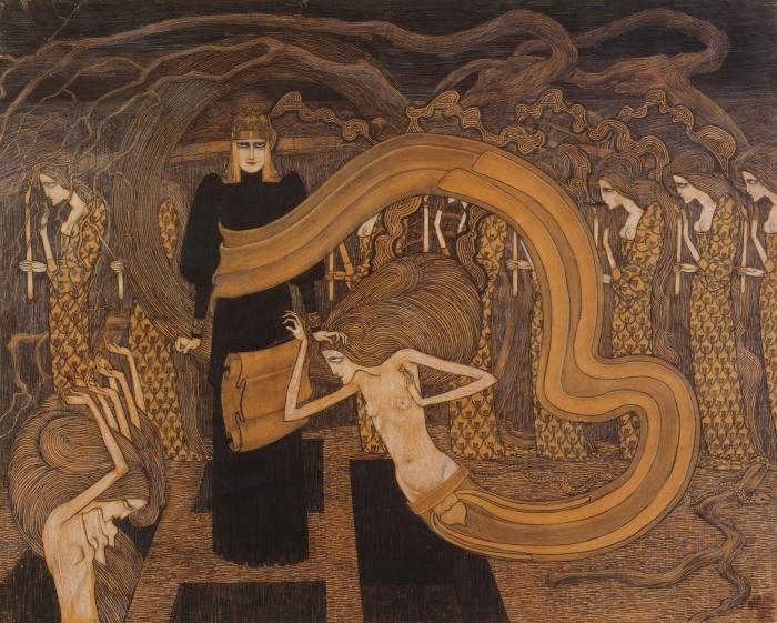 Pixerstick Aufkleber Jan Toorop - Fatalismus - Reproductions