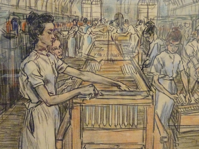 Vinilo Pixerstick Jan Toorop - Fábrica de velas en Gouda, 2 - Reproductions
