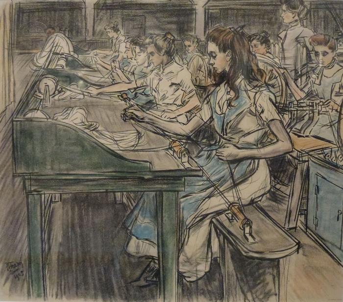 Papier peint vinyle Jan Toorop - Fabrique de bougies à Gouda, 3 - Reproductions