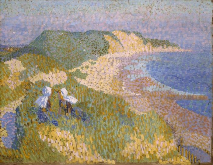 Papier peint vinyle Jan Toorop - Dunes et mer à Zoutelande - Reproductions
