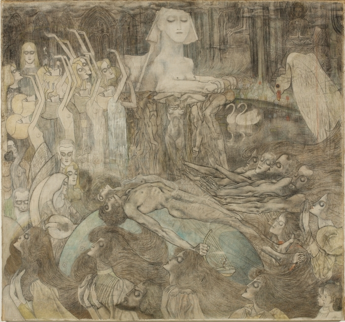 Naklejka Pixerstick Jan Toorop - Sfinks - Reproductions