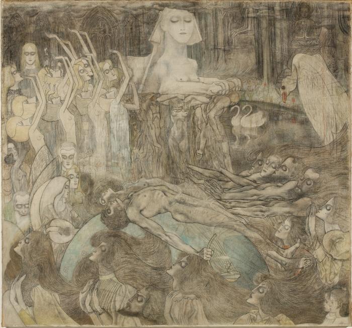 Papier peint vinyle Jan Toorop - Sphinx - Reproductions