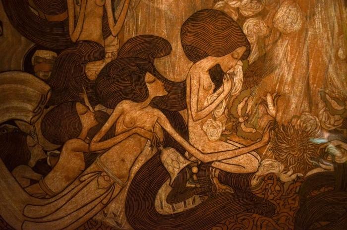 Jan Toorop - The Three Brides Pixerstick Sticker - Reproductions