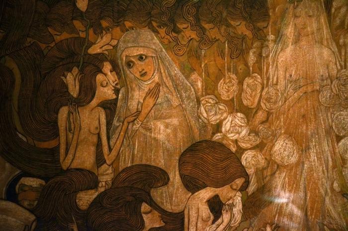 Papier peint vinyle Jan Toorop - Les trois mariées II - Reproductions