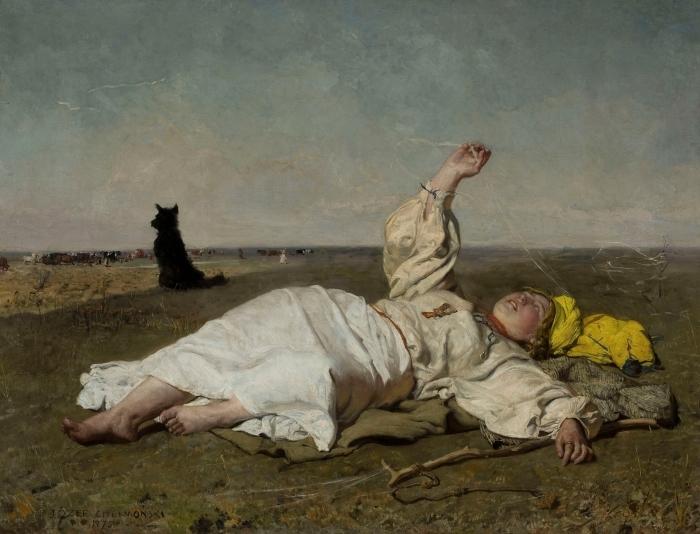 Fototapeta winylowa Józef Chełmoński - Bociany (babie lato) - Reproductions