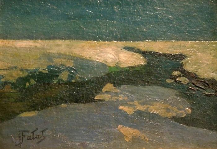 Papier peint vinyle Julian Fałat - Paysage d'hiver - Reproductions