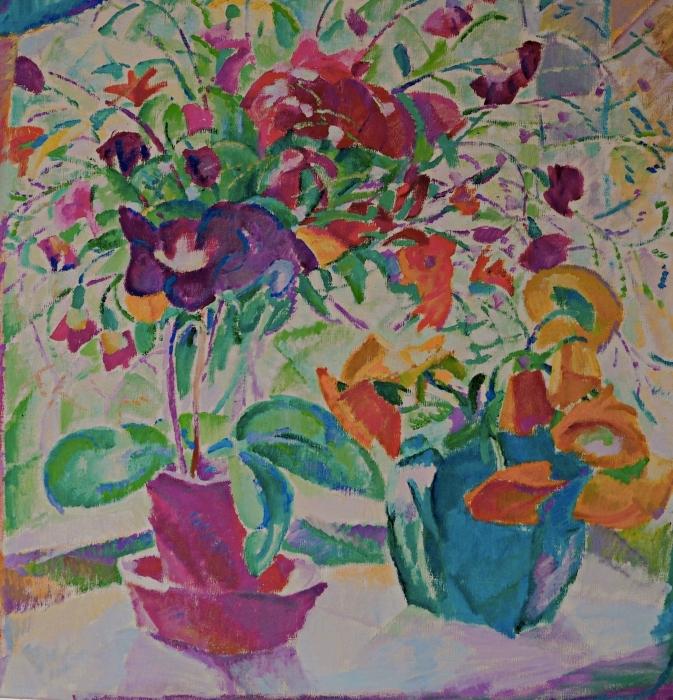 Sticker Pixerstick Leo Gestel - Bouquet à la fenêtre - Reproductions