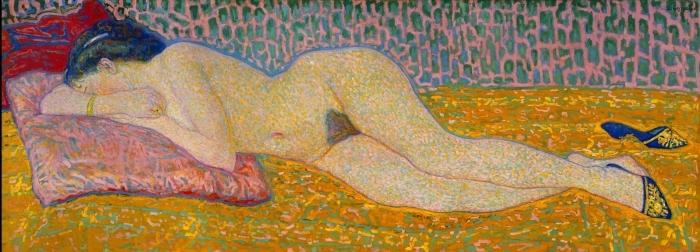Papier peint vinyle Leo Gestel - Nu couché - Reproductions