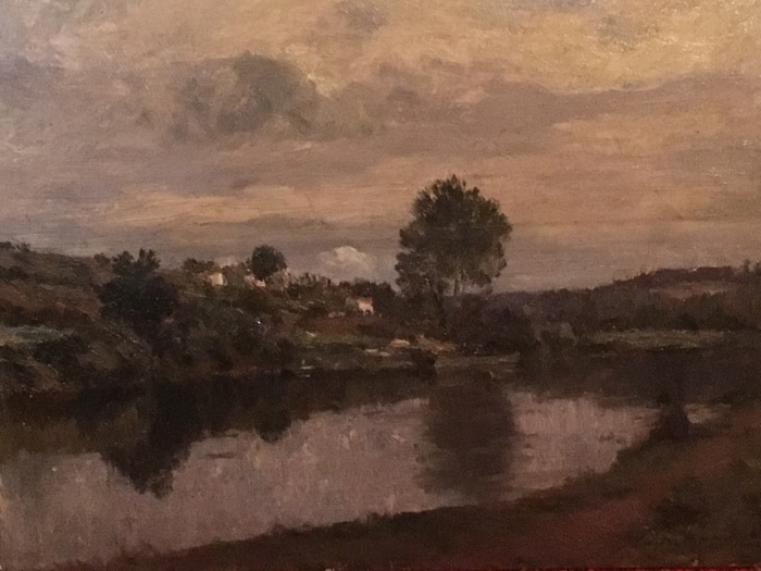 Papier peint vinyle Matthijs Maris - Figure au bord du lac - Reproductions