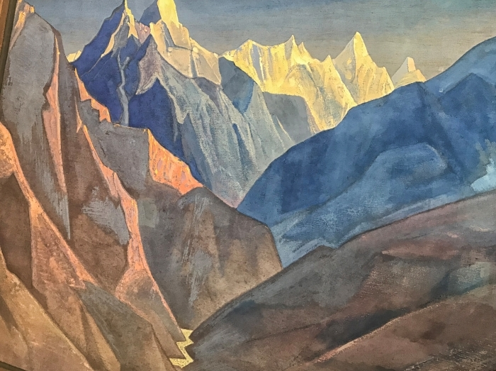 Sticker Pixerstick Nicolas Roerich - Étude de montagne - Nicholas Roerich