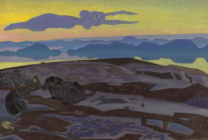 Papier peint vinyle Nicolas Roerich - Le verdict - Nicholas Roerich