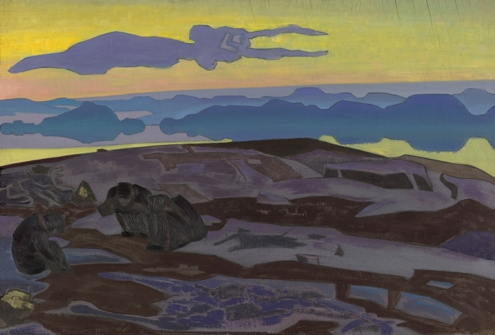 Sticker Pixerstick Nicolas Roerich - Le verdict - Nicholas Roerich