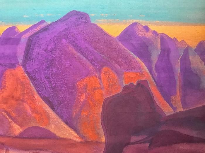 Naklejka Pixerstick Nikołaj Roerich - Studium gór II - Nicholas Roerich