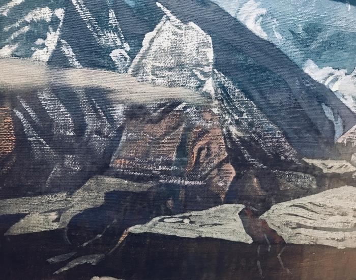 Naklejka Pixerstick Nikołaj Roerich - Himalaje - Nicholas Roerich