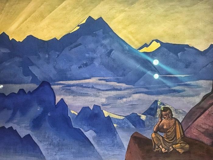 Naklejka Pixerstick Nikołaj Roerich - Budda - Nicholas Roerich