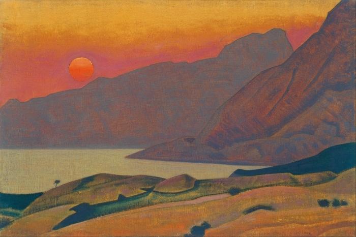 Naklejka Pixerstick Nikołaj Roerich - Monhegan. Maine - Nicholas Roerich