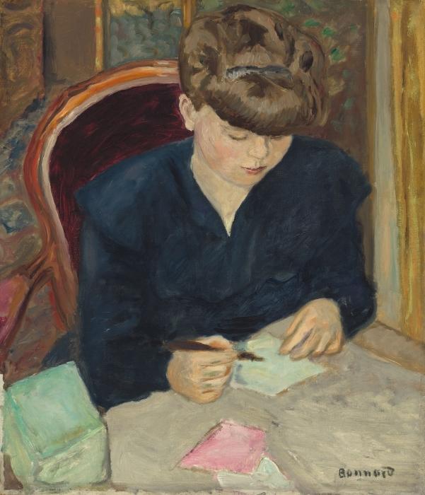 Vinilo Pixerstick Pierre Bonnard - La carta - Reproductions