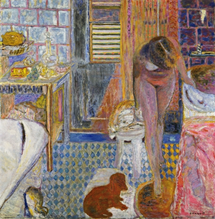 Naklejka Pixerstick Pierre Bonnard - Toaleta - Reproductions