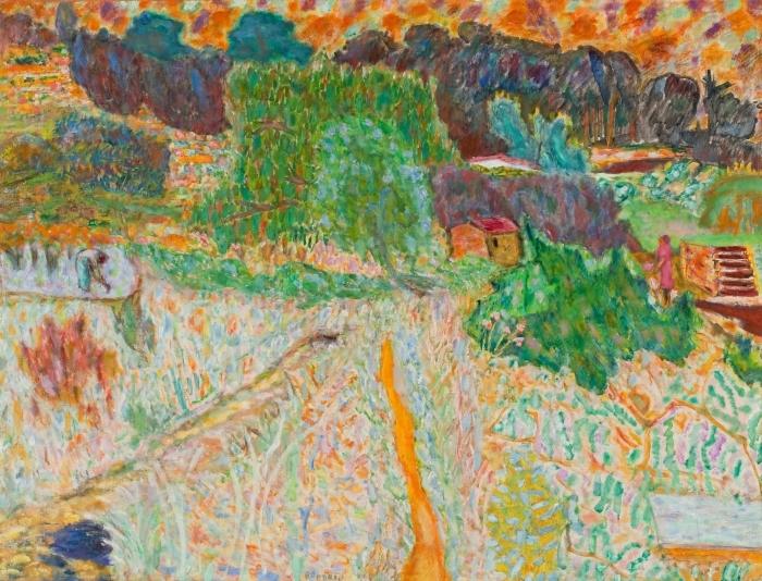 Naklejka Pixerstick Pierre Bonnard - Widok z pracowni artysty - Reproductions