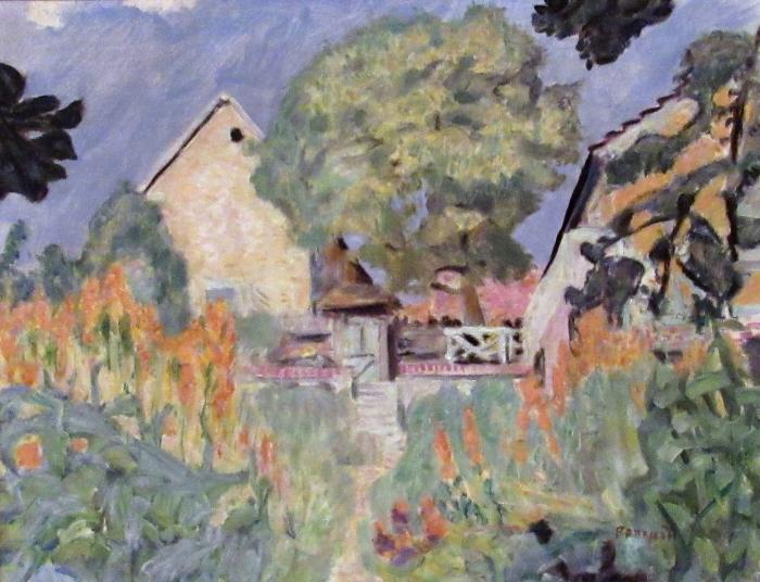 Pierre Bonnard - Kotini Vernonissa - puutarha Vinyyli valokuvatapetti - Reproductions