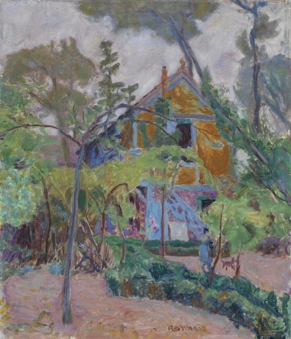 Sticker Pixerstick Pierre Bonnard - Maison parmi les arbres - Reproductions