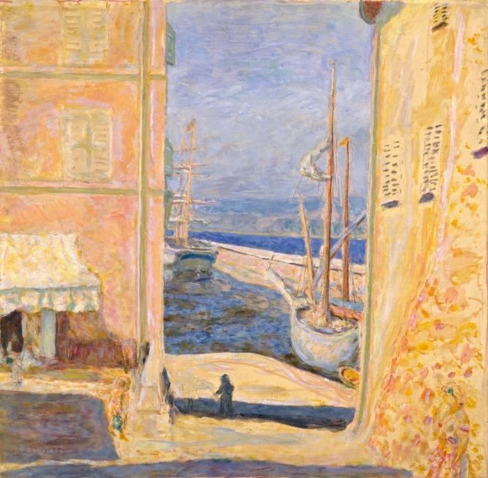Carta da Parati in Vinile Pierre Bonnard - Vista sul vecchio porto di Saint-Tropez - Reproductions