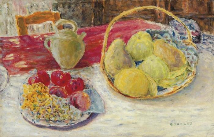 Naklejka Pixerstick Pierre Bonnard - Martwa natura z owocami w słońcu - Reproductions
