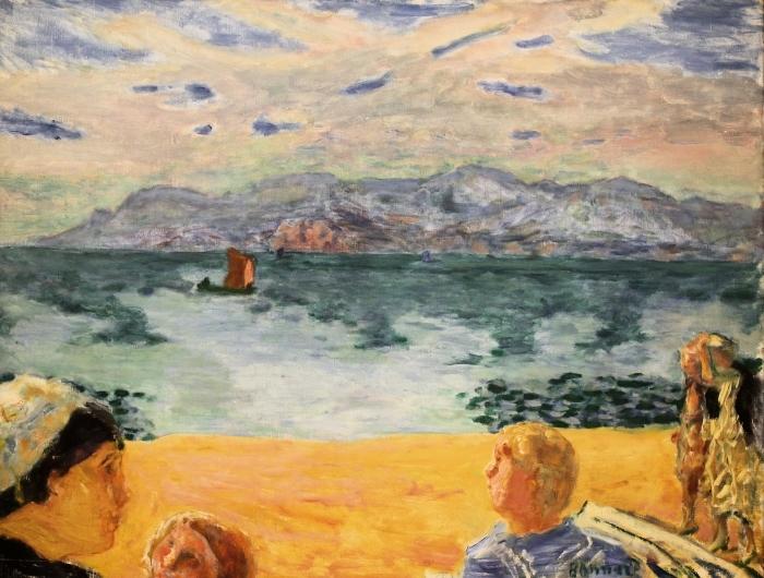 Naklejka Pixerstick Pierre Bonnard - Paryż. L'Esterel - Reproductions