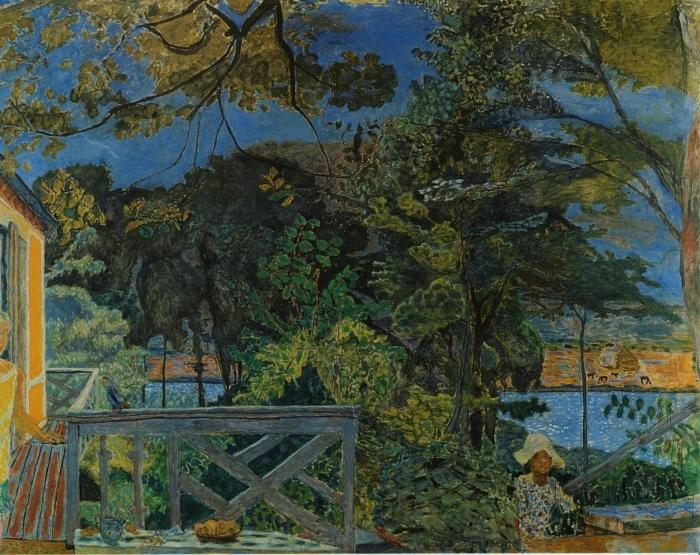 Naklejka Pixerstick Pierre Bonnard - Taras w Vernon - Reproductions