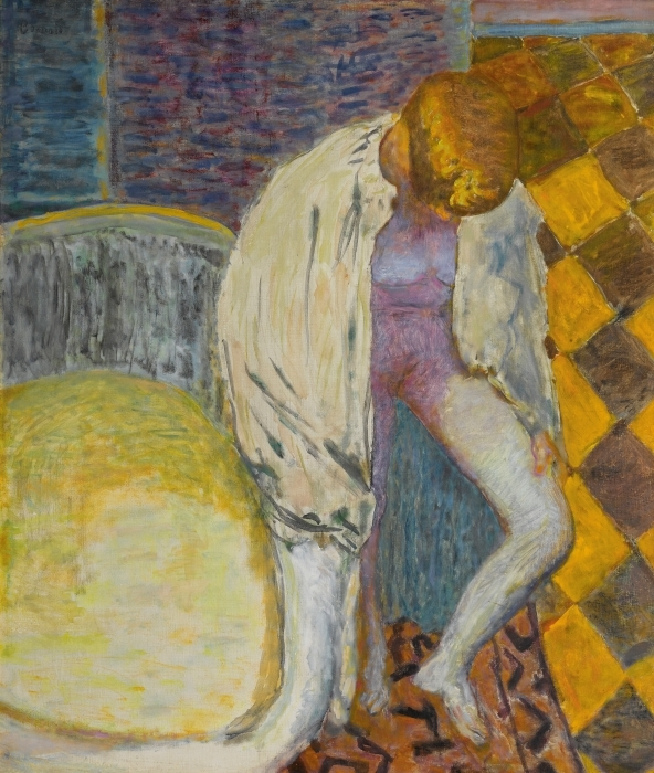 Vinyl-Fototapete Pierre Bonnard - Mädchen steigt aus der Badewanne - Reproductions