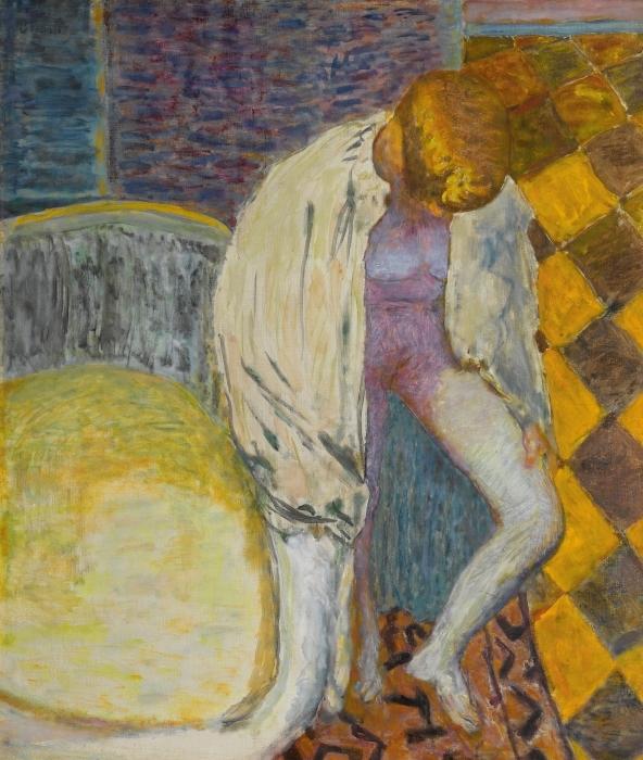 Naklejka Pixerstick Pierre Bonnard - Wychodząca z wanny - Reproductions
