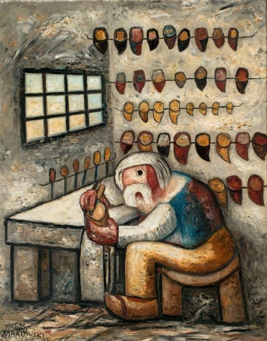 Papier peint vinyle Tadeusz Makowski - Le sabotier - Reproductions