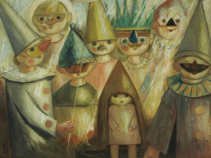 Papier peint vinyle Tadeusz Makowski - Masquarade -