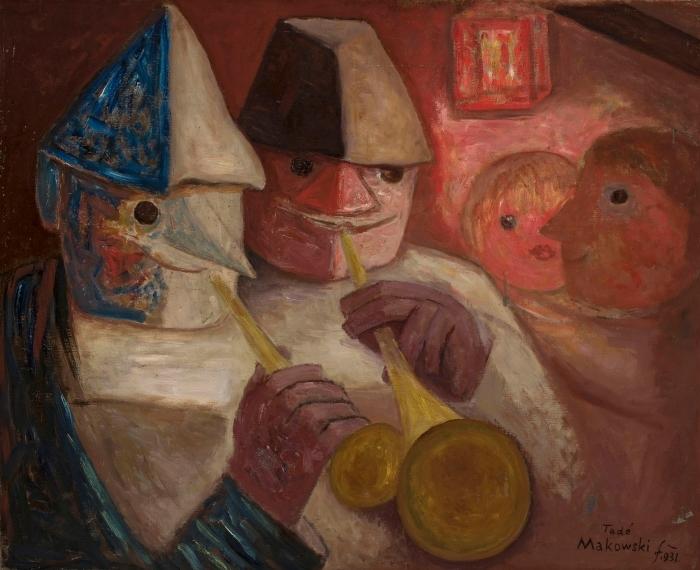 Vinilo Pixerstick Tadeusz Makowski - Fiesta - Reproductions